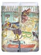 New Orleans Carousel Duvet Cover