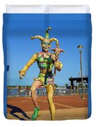New Orleans Clown French Quarters Duvet Cover