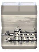 New Orleans Ferry Bw Duvet Cover