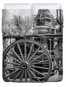 New Orleans Fire Department 1896 Bw Duvet Cover