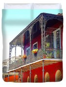New Orleans French Quarter Architecture 2 Duvet Cover