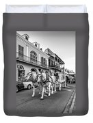 New Orleans Funeral Monochrome Duvet Cover