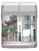 New Orleans Gov. Nichols And Royal St Duvet Cover by Anthony Butera