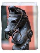 New Orleans Horse Tether Duvet Cover