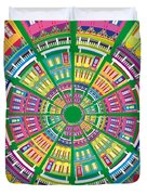 New Orleans House Roundel Duvet Cover