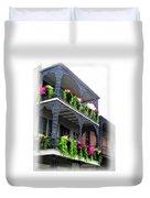 New Orleans Porches Duvet Cover