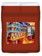 New Orleans Reflections In Red Duvet Cover