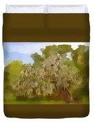 New Orleans Spanish Moss On Live Oaks Duvet Cover by Christine Till