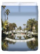 New Photographic Art Print For Sale Canals Of Venice California Duvet Cover