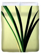 Fanned Leaves Of An Amaryllis Duvet Cover
