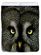 New Photographic Art Print For Sale   Great Grey Owl Duvet Cover