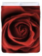 Close Up Heart Of A Red Rose Duvet Cover