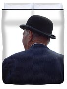 New Photographic Art Print For Sale   Iconic London Man In Bowler Hat Duvet Cover