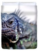 Close Up Beady Eyed Iguana Duvet Cover
