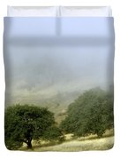 Mist In The Californian Valley Duvet Cover