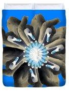 New Photographic Art Print For Sale Pop Art Swan Flower On Blue Duvet Cover