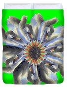 New Photographic Art Print For Sale Pop Art Swan Flower On Green Duvet Cover