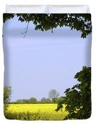 New Photographic Art Print For Sale Yellow English Fields 3 Duvet Cover