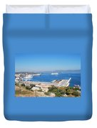 New Port Corfu Duvet Cover