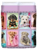 New Puppy Multipic Duvet Cover by Greg Cuddiford