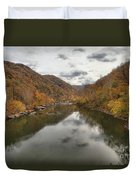 New River Fall Reflections Duvet Cover