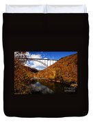 New River Gorge Bridge In Autumn Duvet Cover