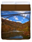New River Gorge Fiery Fall Colors Duvet Cover