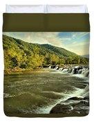 New River Landscape Duvet Cover