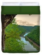 New River Railroad Bridge At Hawk's Nest  Duvet Cover