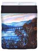 New River Trestle In Fall Duvet Cover