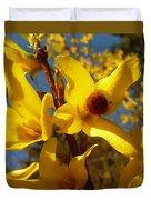 New Season - Old Friend  ... Forsythia In Springtime Duvet Cover