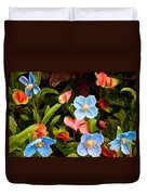 New World And Old World Exotic Flowers Duvet Cover