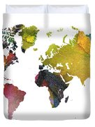 New World Map Duvet Cover