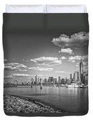 New World Trade Center Bw Duvet Cover