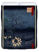 New Years Eve Foxfires At The Changing Tree Duvet Cover