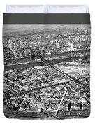 New York 1937 Aerial View  Duvet Cover