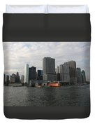 New York And Staaten Island Ferry Duvet Cover