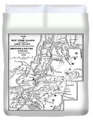 New York: Armies, 1776 Duvet Cover