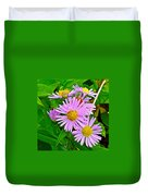 New York Asters In Flower's Cove-newfoundland Duvet Cover