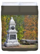 New York At Gettysburg - 149th Ny Infantry Autumn Mid-afternoon Culp's Hill Duvet Cover by Michael Mazaika