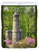 New York At Gettysburg - Monument To 12th / 44th Ny Infantry Regiments-2a Little Round Top Spring Duvet Cover