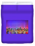New York At Night Duvet Cover