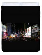 New York - Broadway And Times Square Duvet Cover