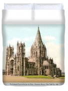 New York City - The Cathedral Church Of St John The Divine - 1915 Duvet Cover