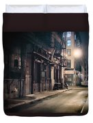 New York City Alley At Night Duvet Cover