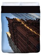 New York City - An Angled View Of The Potter Building At Sunrise Duvet Cover