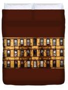 New York City Apartment Building Study Duvet Cover