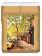 New York City - Autumn In The East Village  Duvet Cover