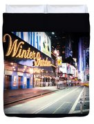New York City - Broadway Lights And Times Square Duvet Cover