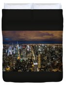 New York City By Night Duvet Cover